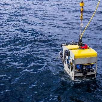 vehículo operado a distancia que se utiliza en la campaña oceanografica en el cañón de Avilés